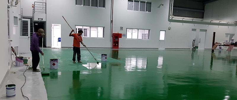 Quy trình thi công sơn sàn epoxy hiệu quả