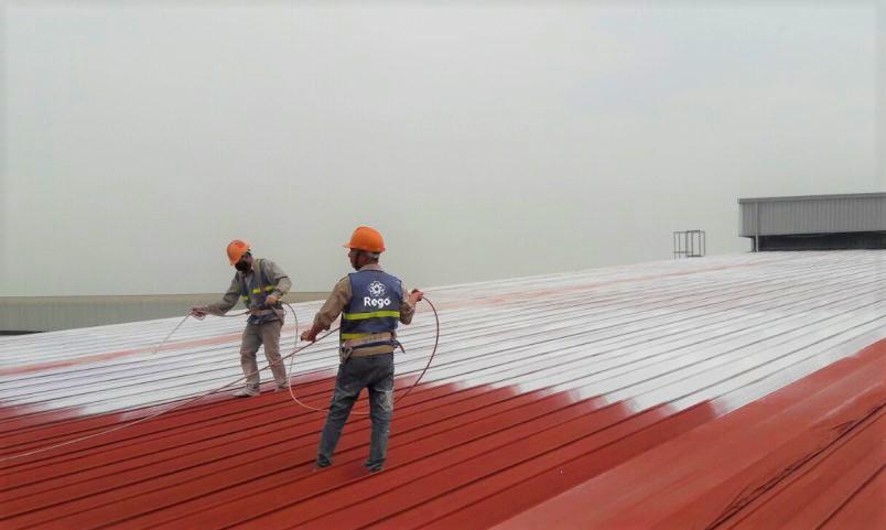 hướng dẫn thi công sơn chống nóng mái tôn chuyên nghiệp