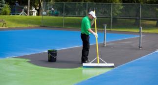 Sơn sân tennis gồm loại nào? Quy trình thi công sơn tennis