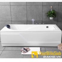 Bồn tắm chất liệu Acrylic có chân yếm kèm bộ vòi Navier NV-1302AYV