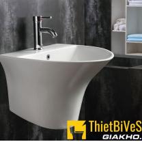 Chậu lavabo liền khối tròn Sumi QT-405B