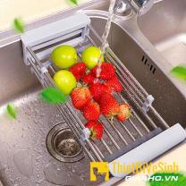 Khay inox bồn rửa chén co giãn Navier NV-107
